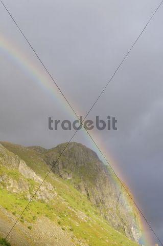 Rainbow, Lofoten, Northern Norway, Norway, Scandinavia, Europe