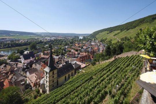 View from the Clingenburg castle, Klingenberg am Main, Mainfranken, Lower Franconia, Franconia, Bavaria, Germany, Europe
