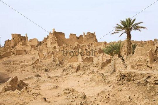 Ruins of Germa, medieval capital of the Garamantes, Libya, Sahara, North Africa, Africa