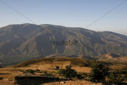 Foothills of the Sierra Nevada at Orgiva, Alpujarra, Sierra Nevada, Spain, Europe