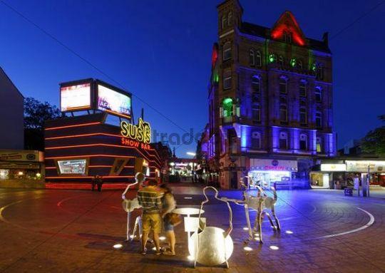 Beatles Platz square, St. Pauli, Reeperbahn, Altona, Hanseatic City of Hamburg, Germany, Europe