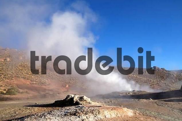 geysir in the Andes El Tatio North Chile