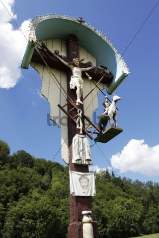 Wayside cross in Elzach in the Black Forest, Baden-Wuerttemberg, Germany, Europe