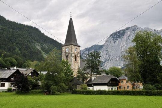 Church of Altaussee in the Fischerndorf quarter, Ausseerland, Salzkammergut, Styria, Austria, Europe