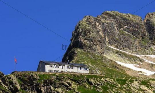 Glecksteinhuette, hut of the Swiss Alpine Club, SAC, Grindelwald, Switzerland, Europe