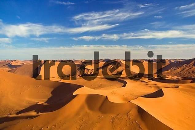 Fly over the dunes. Namib Desert, Namibia, Africa