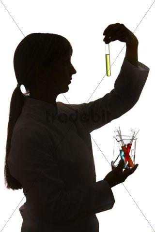 Chemistry laboratory, lab technician at work