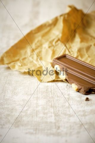 Chocolate on paper