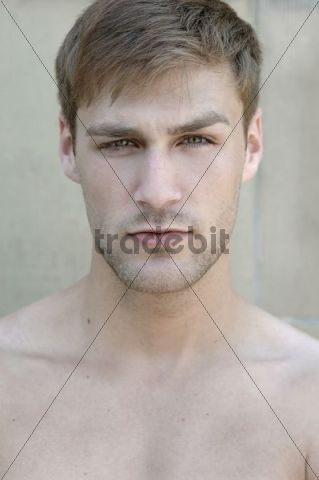 Portrait of a young bare-chested man