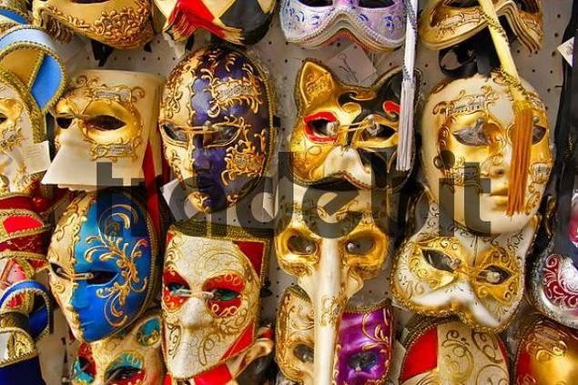 venetian masks for karneval, Venice, Italy