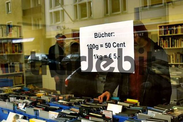 display window of a book shop in Schwabing, Munich, Bavaria, Germany