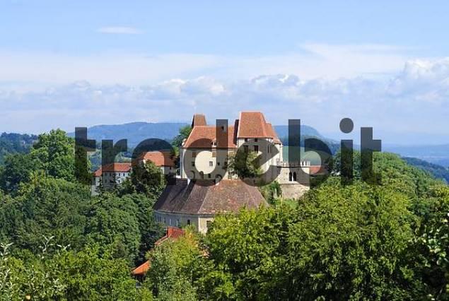 Seggau castle Styria Austria from Frauenberg