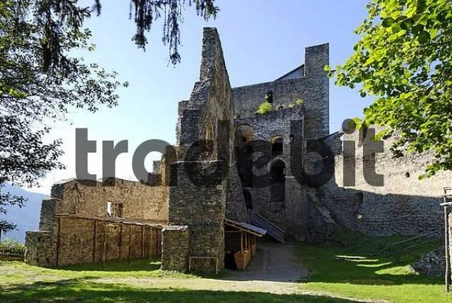 Frauenburg in the Mur valley district of Judenburg Stryria Austria Ruins of the castle