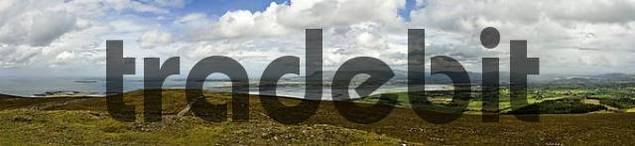 view from the cairn of Knocknaree, Sligo, Ireland