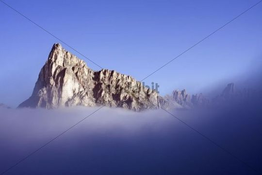 Mount Ra Gusela, 2595 m, Dolomites, Alto Adige, South Tirol, Alps, Italy, Europe