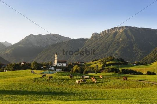 Parish Church of St. Nicholas in Pfronten, Ostallgaeu district, Allgaeu, Bavaria, Germany, Europe