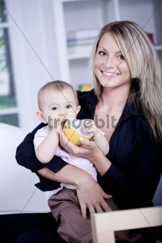 Young woman with baby