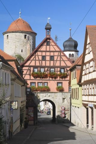 City gate in Langenburg Hohenlohe, Baden-Wuerttemberg, Germany, Europe