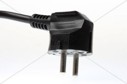 Safety plug, two poles