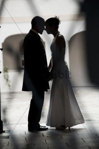 Bridal couple, silhouette