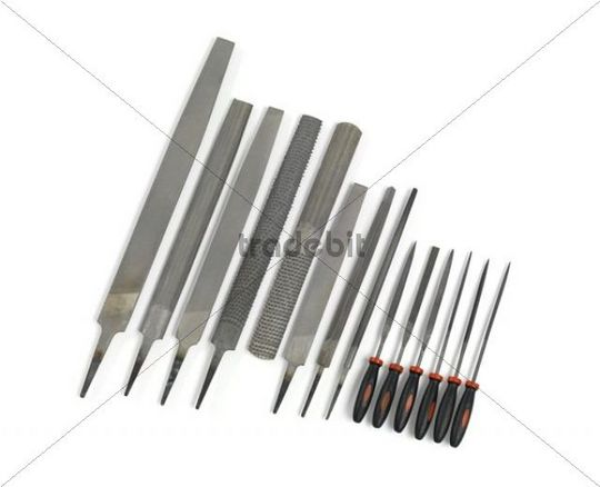 Set of hand files and needle files