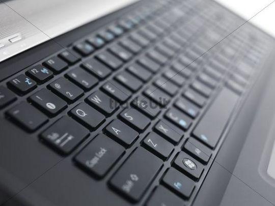 Laptop computer keyboard, closeup