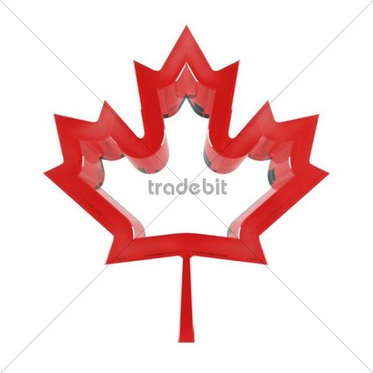 Red Maple Leaf Symbol Of Canada 3d Illustration Download Abstract