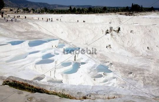 Calcium formations of Pamukkale, UNESCO World Heritage Site, Turkey