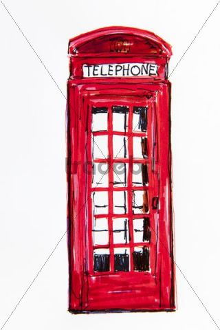 superimposes the how to draw a telephone box delivered truck