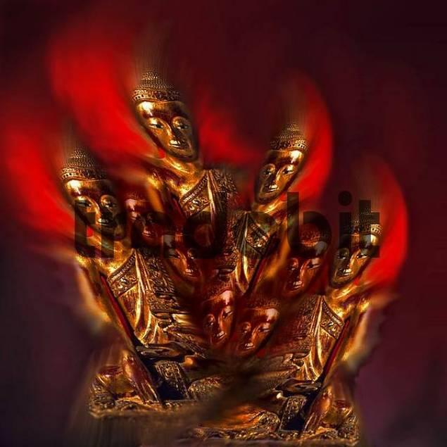 Buddha figures experimental, Composing