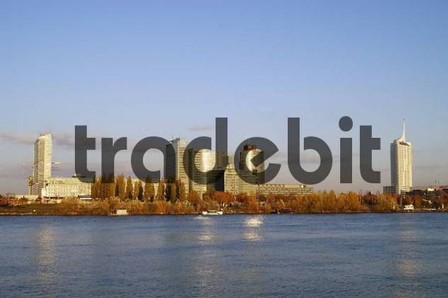 Ares Tower Uno City high rise building New Danube Vienna Austria