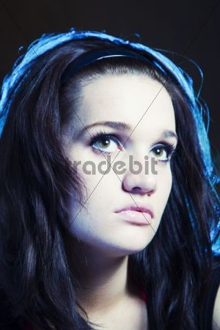 Young bored woman, portrait