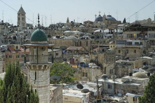 Overlooking the Old City of Jerusalem, Israel, Middle East