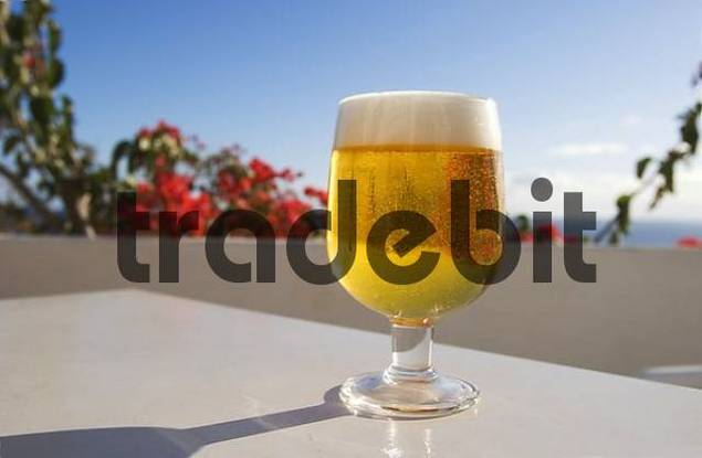 glass of beer in La Calera - La Gomera