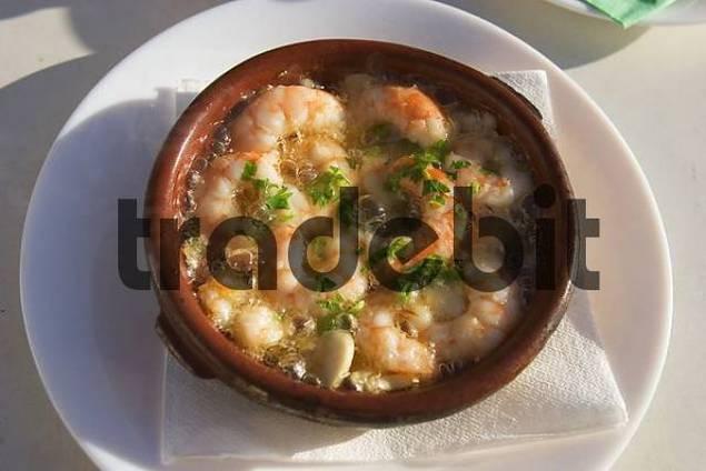 Gambas al ajillo - shrimps with garlic - La Gomera