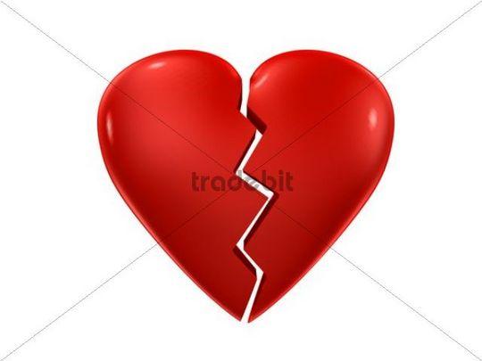 Broken Heart, 3D Illustration