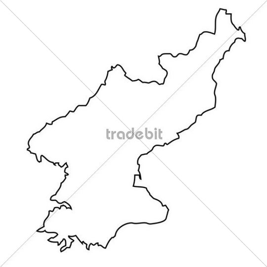 north korea map outline. Outline, map of North Korea