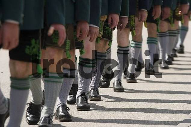 Costume and Riflemens Procession in Wolfratshausen - Bavaria