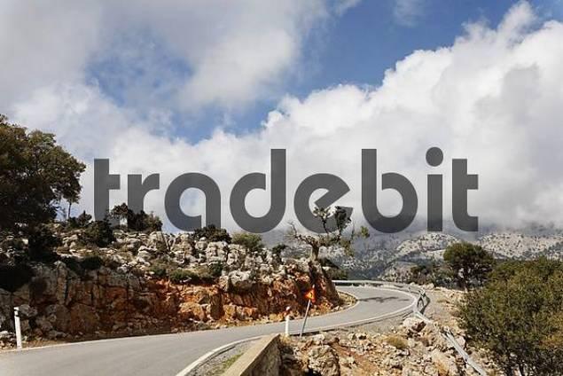 mountain road, Kritsa, Eastern Crete, Greece