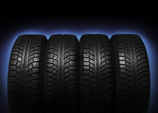 Set Of Four Winter Tires Download Abstract