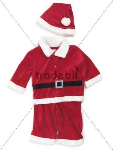 Red baby santa costume