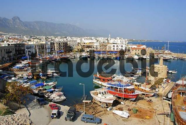Old port of Girne Kyrenia North Cyprus