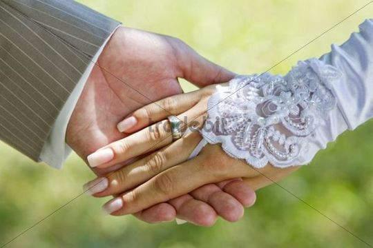 Holding hands with a wedding ringWedding Rings Holding Hands