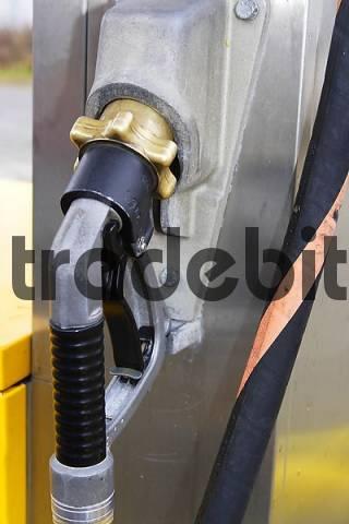 fuel nozzle of an autogas filling station