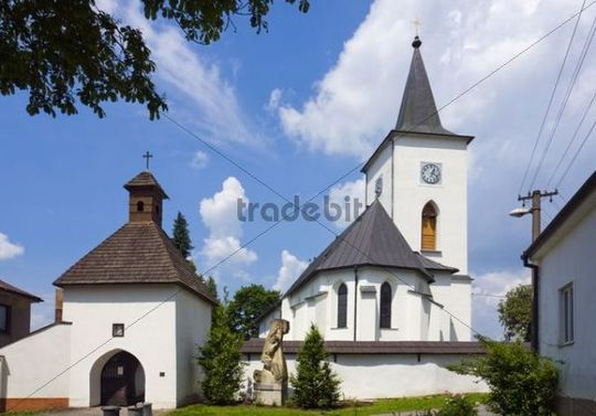 Church of St. James the Elder, Velka Losenice, Zdar nad Sazavou district, Vysocina region, Czech Republic, Europe
