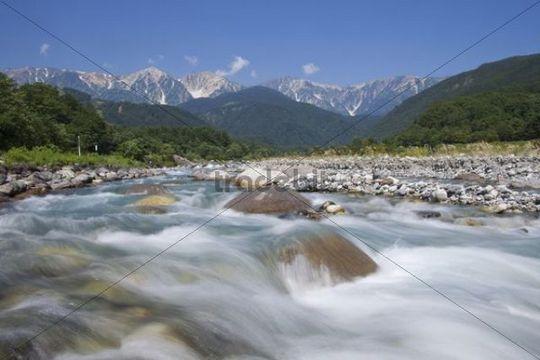 River, Northern Japanese Alps, Hakuba, Nagano, Japan, Asia