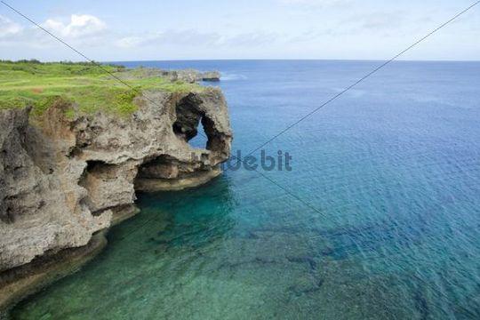 Coastal cliffs, Okinawa, Japan, Asia