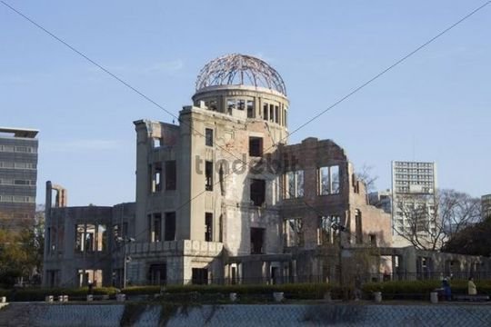 Hiroshima Peace Memorial, commonly called the Atomic Bomb Dome or A-Bomb Dome, Hiroshima Prefecture, Japan, Asia