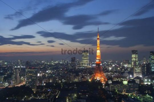 Tokyo by night, Japan, Asia