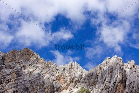 Mountains around Sorapiss Lake, Gruppo del Sorapiss, Dolomites, Alto Adige, South Tirol, Alps, Italy, Europe